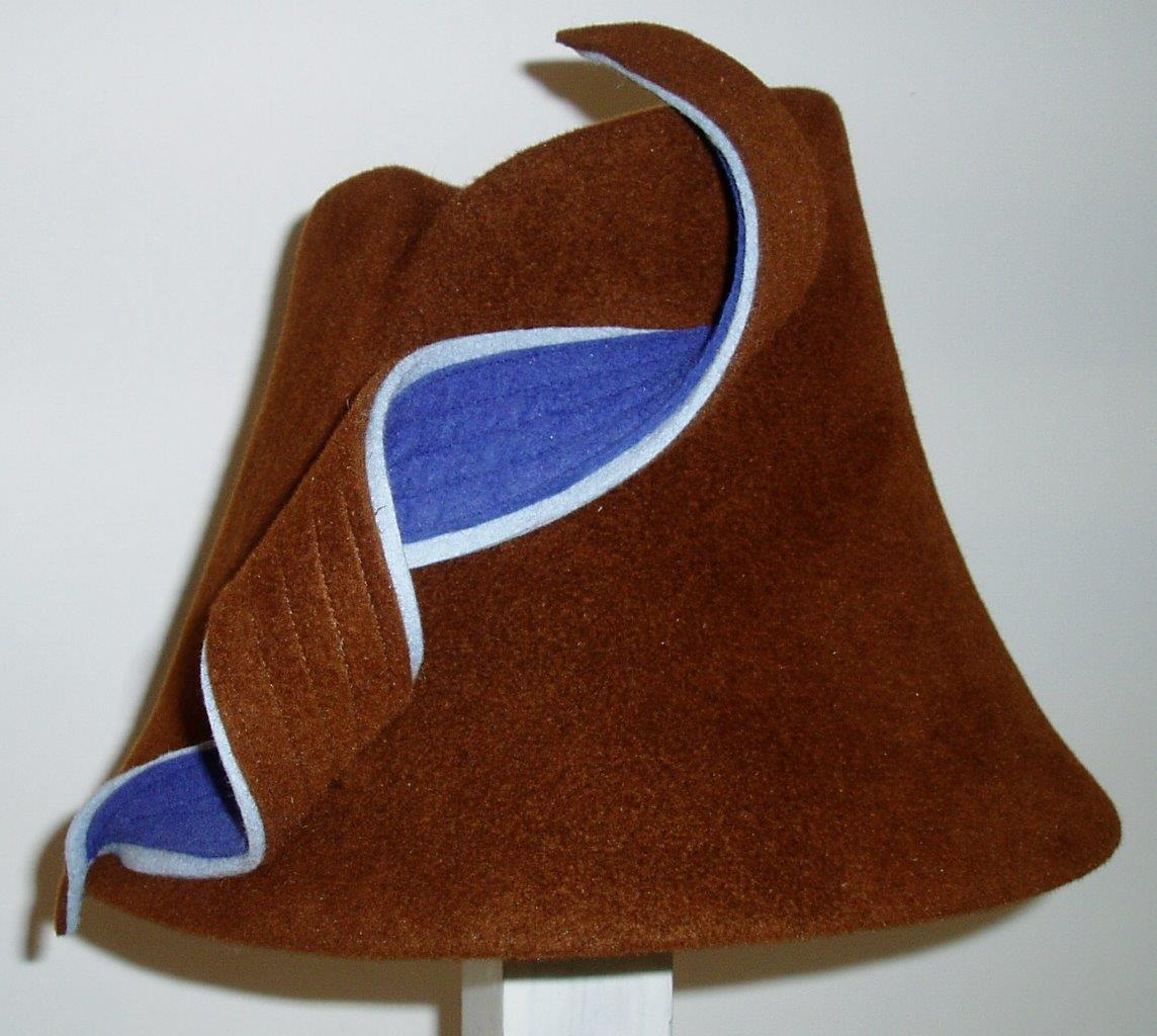 Chestnut and Blue Cloche